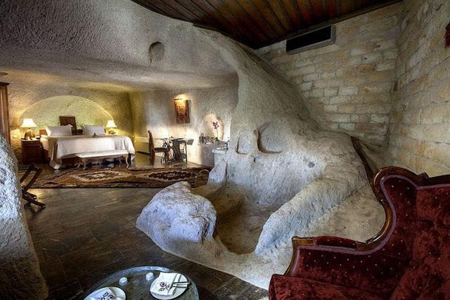 Những khách sạn hang đá độc đáo ở Thổ Nhĩ Kỳ - Ảnh 10.
