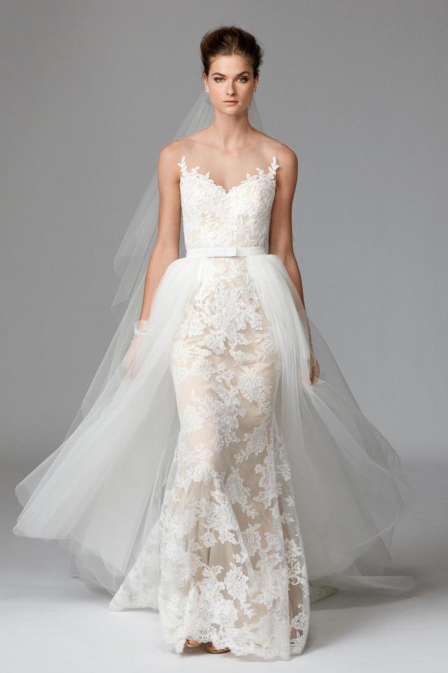 Mê mẩn những mẫu váy cưới vừa đơn giản, vừa sang chảnh - Ảnh 6.