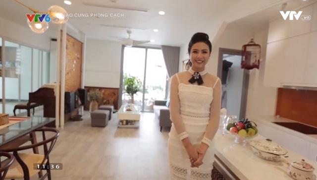 Hoa hậu Ngọc Hân khoe căn hộ đậm chất truyền thống - Ảnh 1.