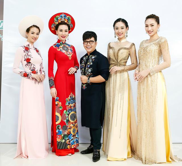 Sài Gòn đêm thứ 7 xuất hiện BST áo dài cưới độc đáo - Ảnh 1.