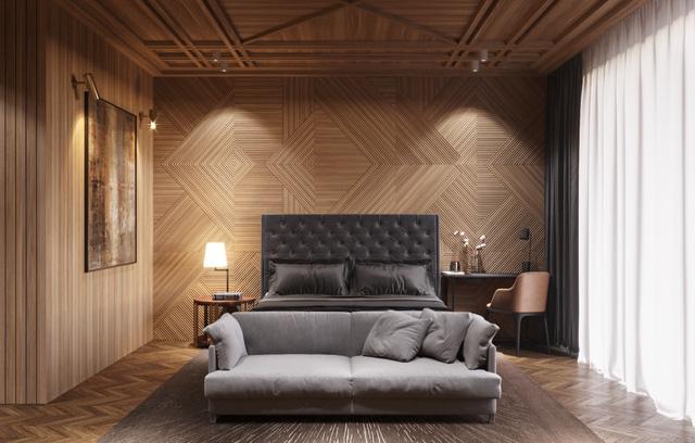 Những gợi ý cho phòng ngủ vừa sang trọng vừa hiện đại với nội thất bằng gỗ - Ảnh 14.