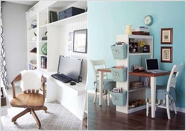 Cách tận dụng không gian để có một phòng làm việc nhỏ - Ảnh 6.