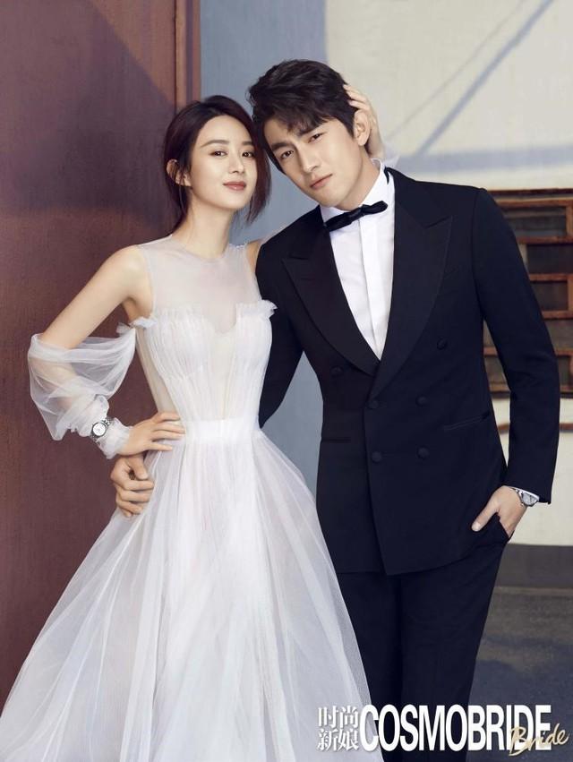 Ảnh cưới ngọt ngào của Triệu Lệ Dĩnh và người tình màn ảnh trên tạp chí - Ảnh 1.