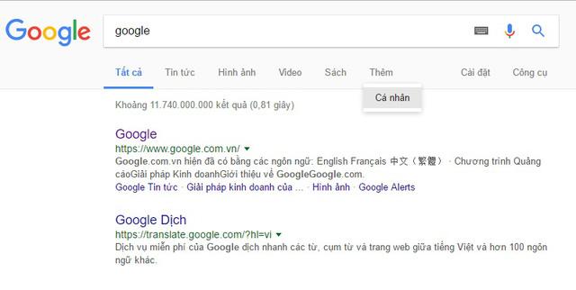 Google bổ sung tính năng Personal hỗ trợ tìm kiếm thông tin cá nhân - Ảnh 1.