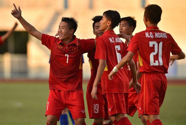 U15 Việt Nam xây chắc ngôi đầu, đoạt vé vào bán kết giải U15 AFF 2017 - Ảnh 2.
