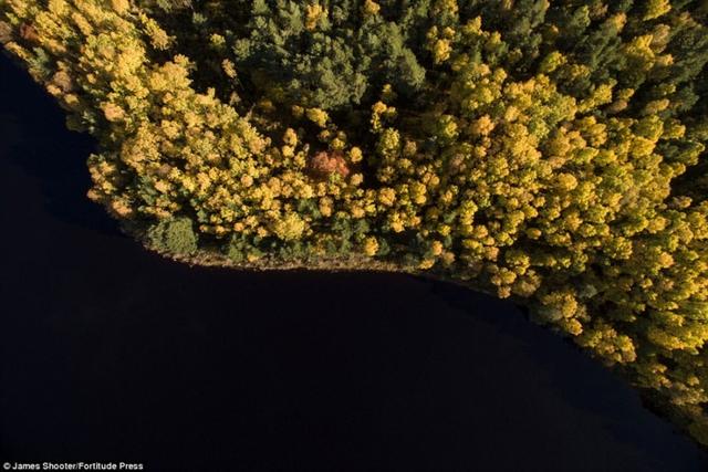 Cảnh mùa thu tuyệt đẹp ở Scotland nhìn từ trên cao - Ảnh 11.