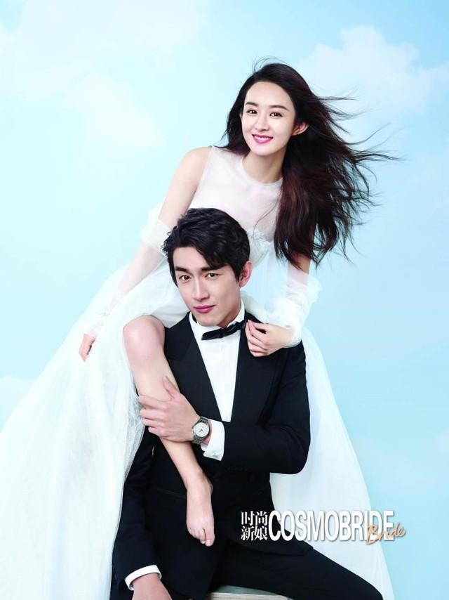 Ảnh cưới ngọt ngào của Triệu Lệ Dĩnh và người tình màn ảnh trên tạp chí - Ảnh 3.