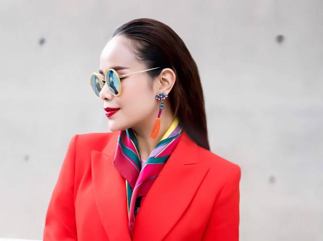 Diện đồ phong cách menswear, Hoa hậu Sella Trương siêu rực rỡ và sang chảnh - Ảnh 3.
