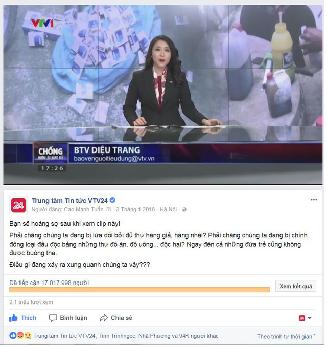 Fanpage Trung tâm tin tức VTV24 cán mốc 1 triệu người theo dõi - Ảnh 5.