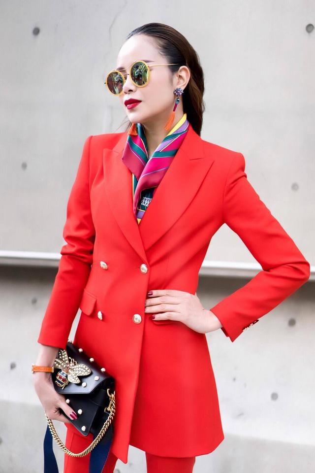 Diện đồ phong cách menswear, Hoa hậu Sella Trương siêu rực rỡ và sang chảnh - Ảnh 5.