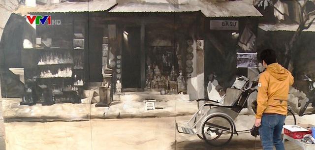 Tranh bích họa bừng sáng phố Phùng Hưng, Hà Nội - Ảnh 2.