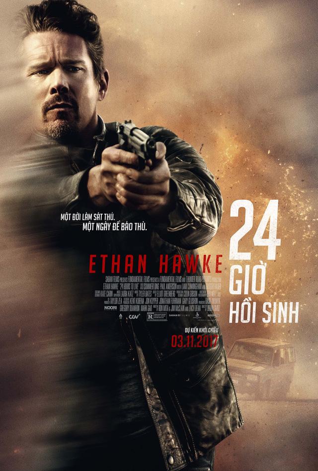 Ethan Hawke trở lại trong phim hành động nghẹt thở 24h Hours to Live - Ảnh 2.