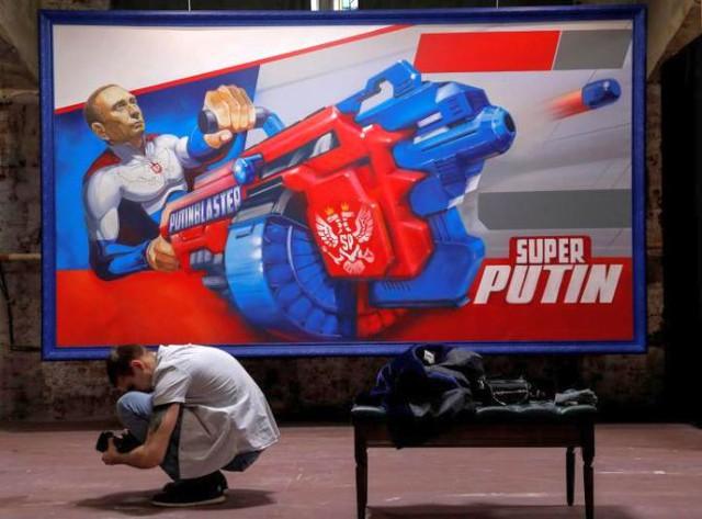 Triển lãm về Tổng thống Putin tại Moscow - ảnh 1