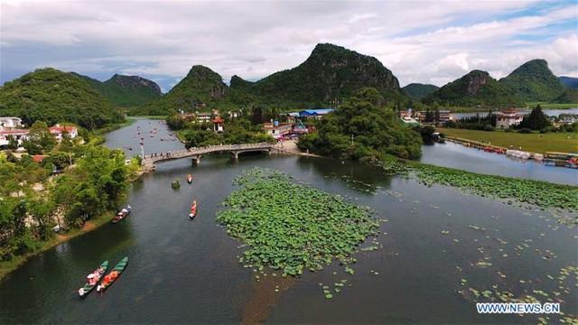 Mùa hè rực rỡ tại công viên sinh thái Puzhehei, Trung Quốc - ảnh 10