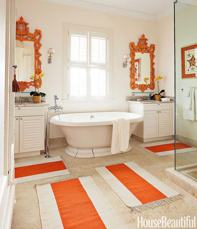 Thích thú với những mẫu phòng tắm ngập sắc màu - Ảnh 10.