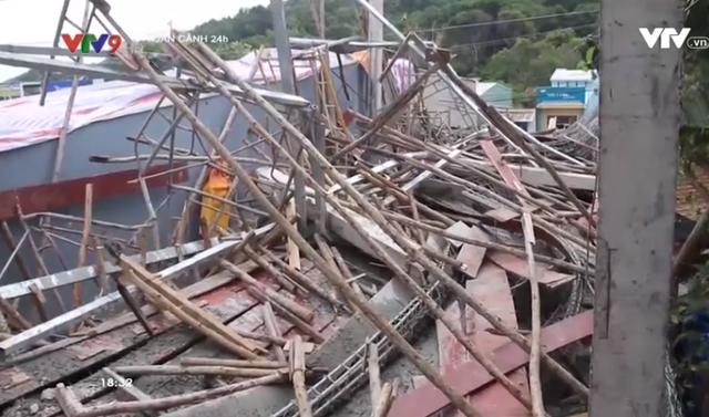 Kiên Giang: Sập nhà đang xây, 5 người bị thương - Ảnh 1.