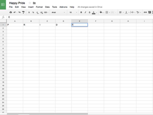 Mẹo biến trang tính Google Sheet thành bảng màu cầu vồng - Ảnh 1.