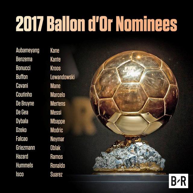 Danh sách chính thức 30 ứng viên Quả bóng vàng 2017: Real Madrid áp đảo - Ảnh 2.