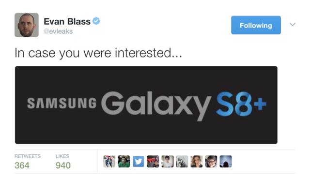 Biến thể cỡ lớn của Galaxy S8 sẽ mang tên Galaxy S8+ - Ảnh 1.