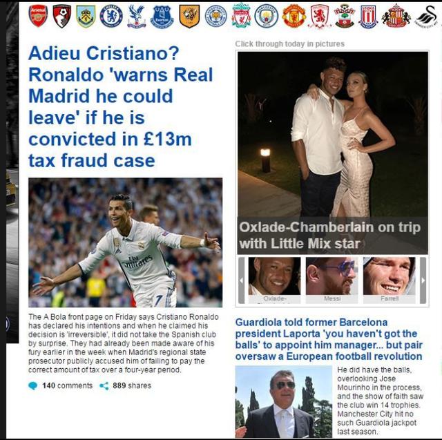 Báo chí châu Âu chấn động với việc Ronaldo đòi rời Real - Ảnh 9.
