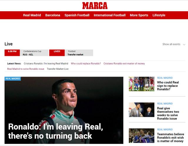 Báo chí châu Âu chấn động với việc Ronaldo đòi rời Real - Ảnh 1.
