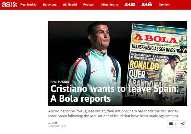 Báo chí châu Âu chấn động với việc Ronaldo đòi rời Real - Ảnh 2.