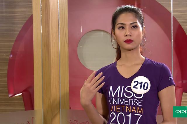Loạt người đẹp Hoa hậu Hoàn vũ Việt Nam 2017 vò đầu bứt tai vì phải nói tiếng Anh - Ảnh 1.
