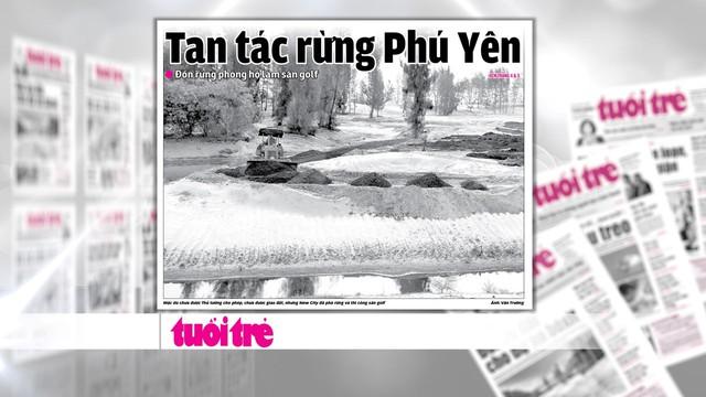 Bí thư Tỉnh ủy Phú Yên nhận khuyết điểm vụ phá rừng làm sân golf - Ảnh 1.