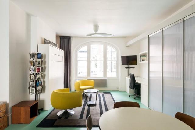 Cách bố trí không gian hợp lý trong căn hộ nhỏ nhiều góc cạnh - Ảnh 2.