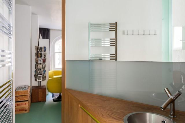 Cách bố trí không gian hợp lý trong căn hộ nhỏ nhiều góc cạnh - Ảnh 9.