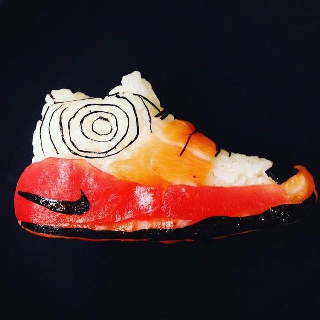 Sushi độc đáo biến hình thành giày dép - Ảnh 3.