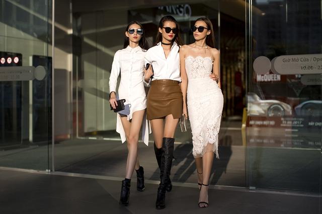 Xuống phố chất lừ như dàn người mẫu Vietnams Next Top Model - Ảnh 1.