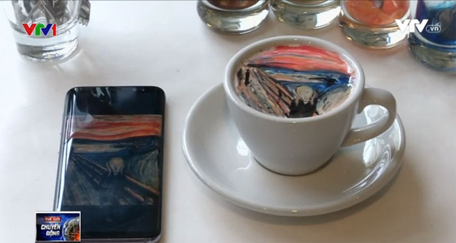 Cà phê tranh hút hồn giới trẻ Hàn Quốc - Ảnh 1.