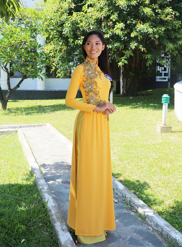 Dàn thí sinh Hoa hậu Hữu nghị ASEAN duyên dáng với áo dài thướt tha - Ảnh 13.