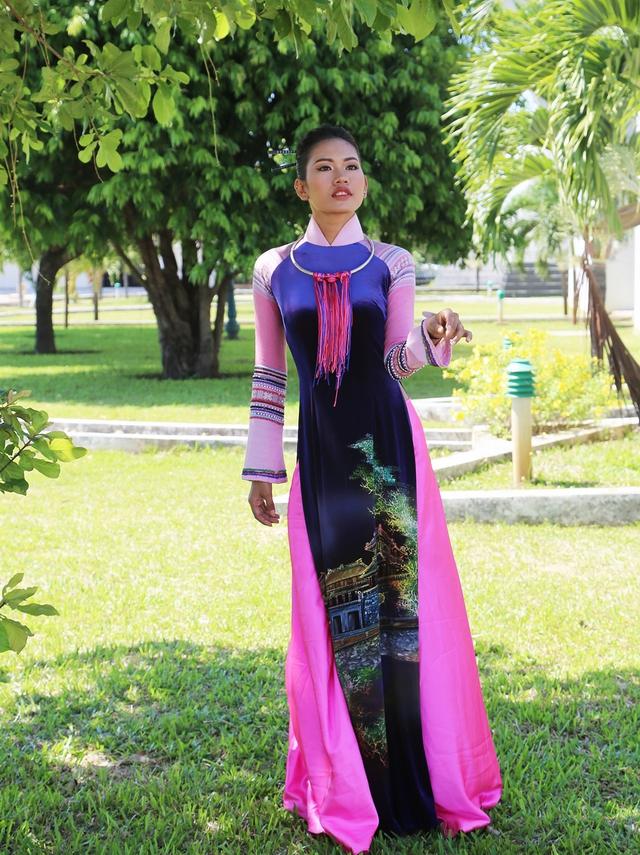 Dàn thí sinh Hoa hậu Hữu nghị ASEAN duyên dáng với áo dài thướt tha - Ảnh 11.