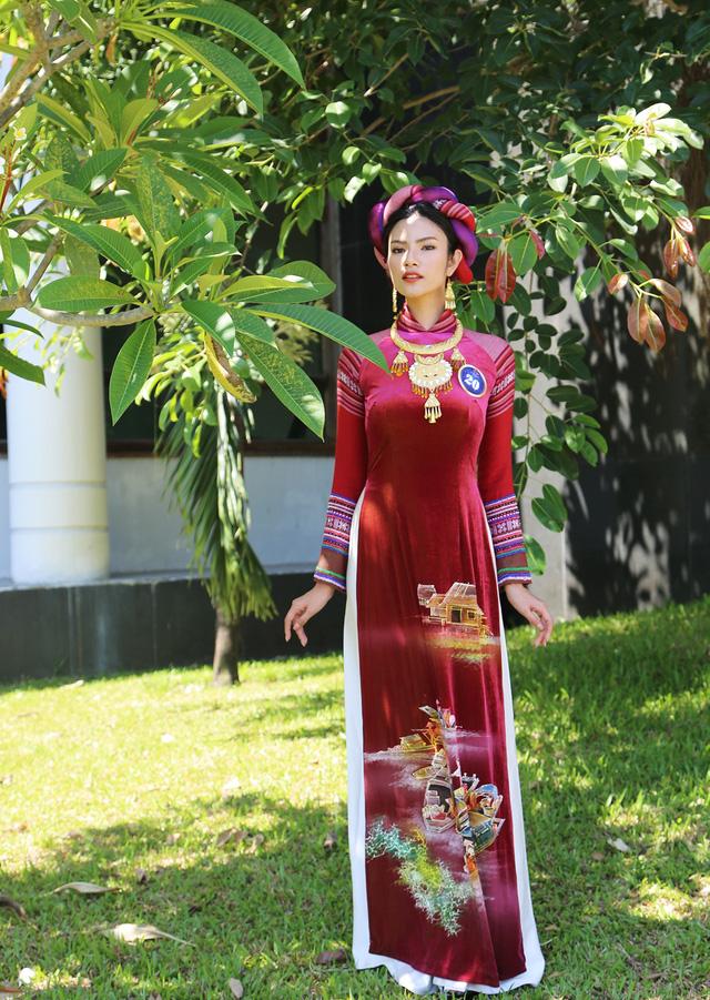 Dàn thí sinh Hoa hậu Hữu nghị ASEAN duyên dáng với áo dài thướt tha - Ảnh 9.