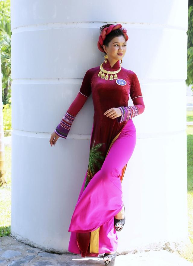 Dàn thí sinh Hoa hậu Hữu nghị ASEAN duyên dáng với áo dài thướt tha - Ảnh 7.