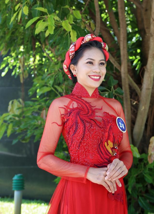 Dàn thí sinh Hoa hậu Hữu nghị ASEAN duyên dáng với áo dài thướt tha - Ảnh 6.