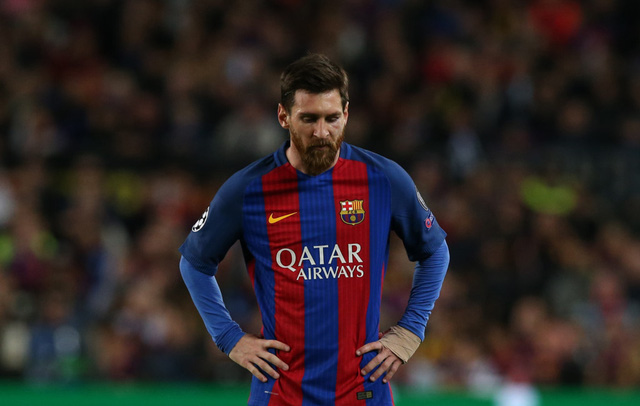 Chùm ảnh: Các cầu thủ Barcelona gục ngã nhìn Juventus vào bán kết - Ảnh 9.