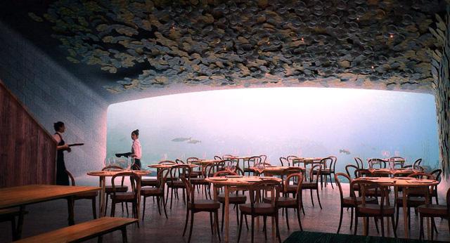 Nhà hàng dưới biển đầu tiên của châu Âu tại Na Uy - Ảnh 4.