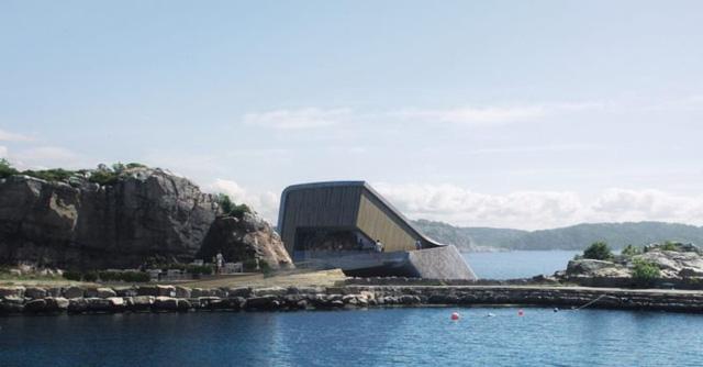 Nhà hàng dưới biển đầu tiên của châu Âu tại Na Uy - Ảnh 2.