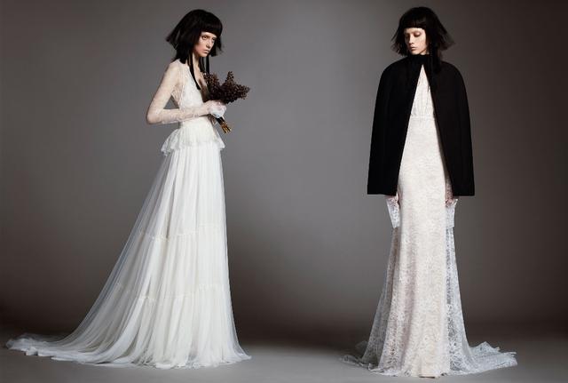 Không khoe eo thon, Vera Wang tung váy cưới ma mị, phá cách - Ảnh 11.