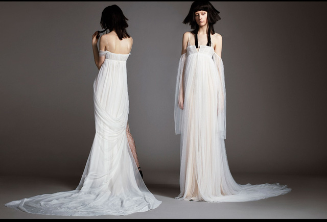 Không khoe eo thon, Vera Wang tung váy cưới ma mị, phá cách - Ảnh 8.