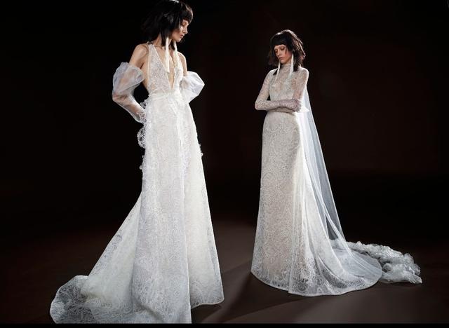 Không khoe eo thon, Vera Wang tung váy cưới ma mị, phá cách - Ảnh 5.