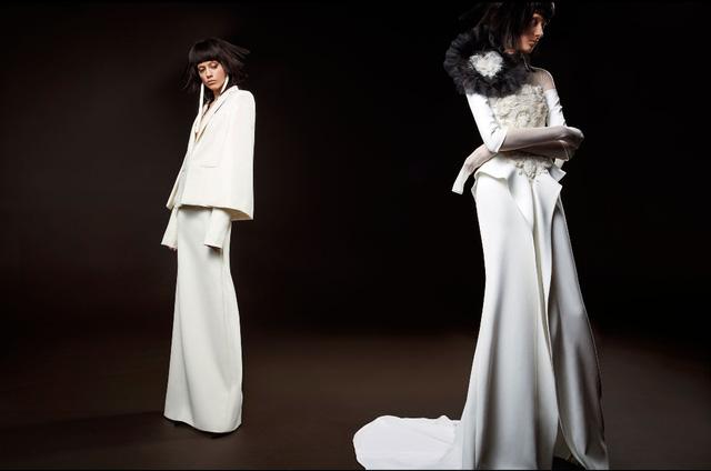 Không khoe eo thon, Vera Wang tung váy cưới ma mị, phá cách - Ảnh 2.