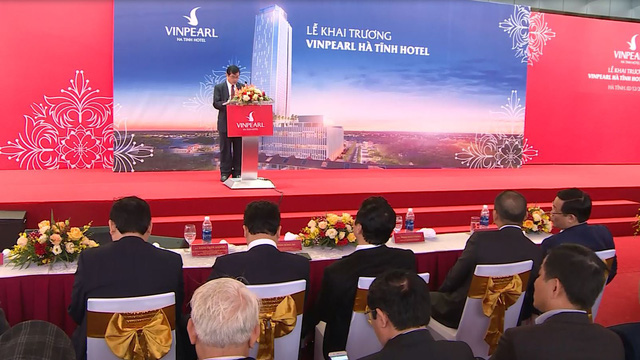 Phó Thủ tướng Vương Đình Huệ dự khai trương khách sạn Vinpearl Hà Tĩnh  - Ảnh 1.