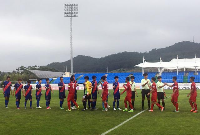 U22 Việt Nam ngược dòng thắng Busan FC 6-1 trước khi dự SEA Games 29 - Ảnh 1.