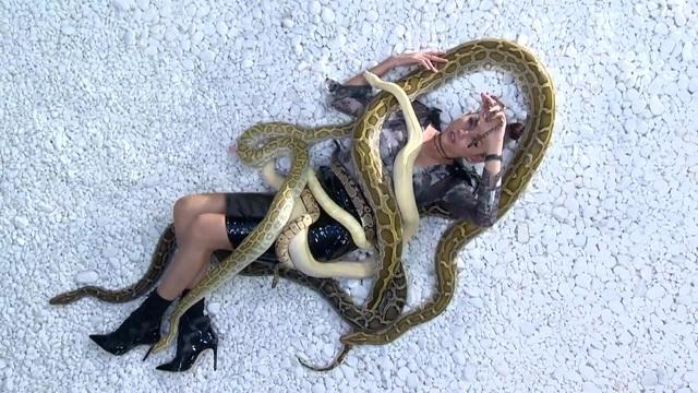 Vietnams Next Top Model 2017: Thị phạm cho thí sinh, Võ Hoàng Yến chơi đùa với trăn và rắn - Ảnh 2.