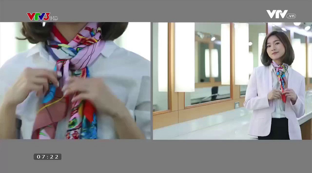 Sang chảnh, thanh lịch nơi công sở với muôn kiểu thắt khăn lụa - Ảnh 7.