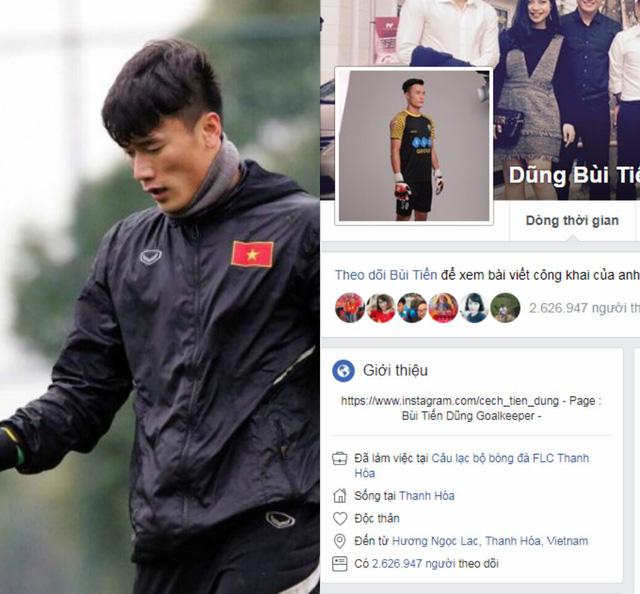 Bất ngờ, thủ môn U23 Việt Nam Bùi Tiến Dũng có lượng fan theo dõi gấp đôi Sơn Tùng M-TP - Ảnh 1.